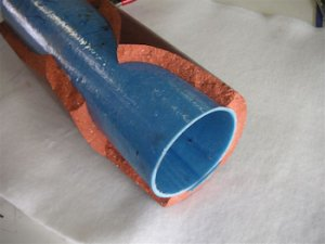 Cracked Clay Pipe with Liner Inside